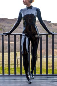 A Shiny Picture From My Holiday. I Think This Might Be The First Time These Sheep Have Seen A Woman In A Catsuit!