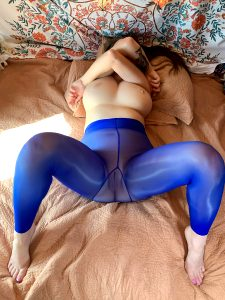 Blue Shiny Nylons 🖤