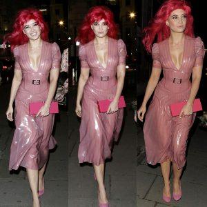 Daisy Lowe's Latex Birthday Dress