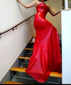 Do You Liek This Floor Length Latex Number?
