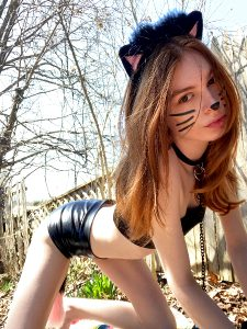 Dressed Up As A Kitty Today (: