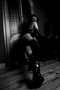 Frisky In Latex Stockings 🖤