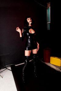 High Shiny Boots And Short Pvc Dress. Feelin Like A Sexy Assassin 🖤