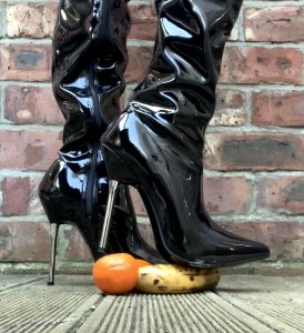 Imagine The Things I Could Do To Your Cock While Wearing These Steel Heel Boots. ?