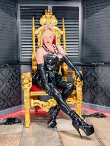 In This Photo, I Am A Rubber Queen Who You WILL Obey.
