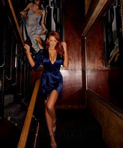 Jessa Hinton In Shiny Satin