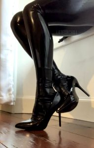 Just Some Shiny Legs From The Black Catsuit Fun I Had Earlier This Evening.