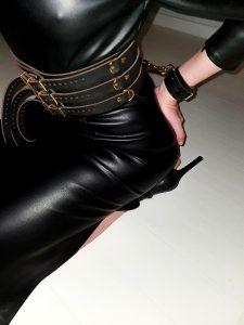 Leather Dress And Bondage