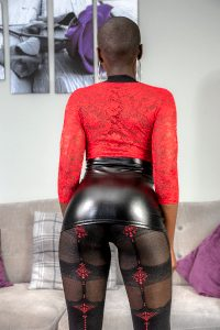 Leather Mini Skirt And Pantyhose