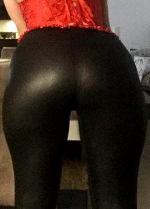 Me In Wetlook Legging And Redcorset, German Girl
