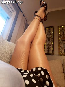 Me With My Legs And Heels In The Air In Shiny Pantyhose! Aren't They Just Beautiful! 🥰😊🔥