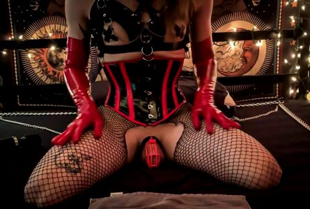 New Corset So Hot I Came In My Cage