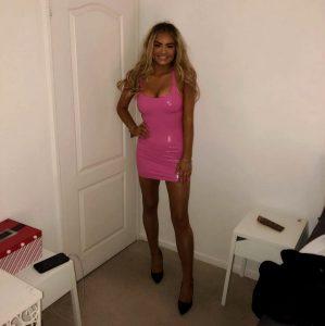 Pink PVC Dress