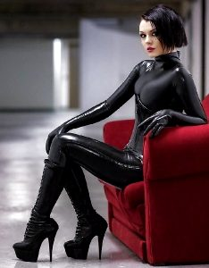 Red Chair Black Latex