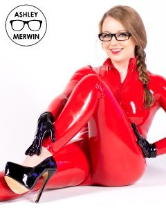 Red Latex Catsuit…