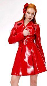 Red Latex Coat