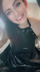 Shiny Skirt And Body Suit. Smile As Extra :P