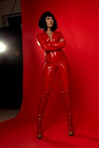 Vinyl Catsuit And Highheels Boots 🔥