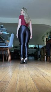 Who Loves Watching Me Walk In My Shiny Pants And Heels? [oc]
