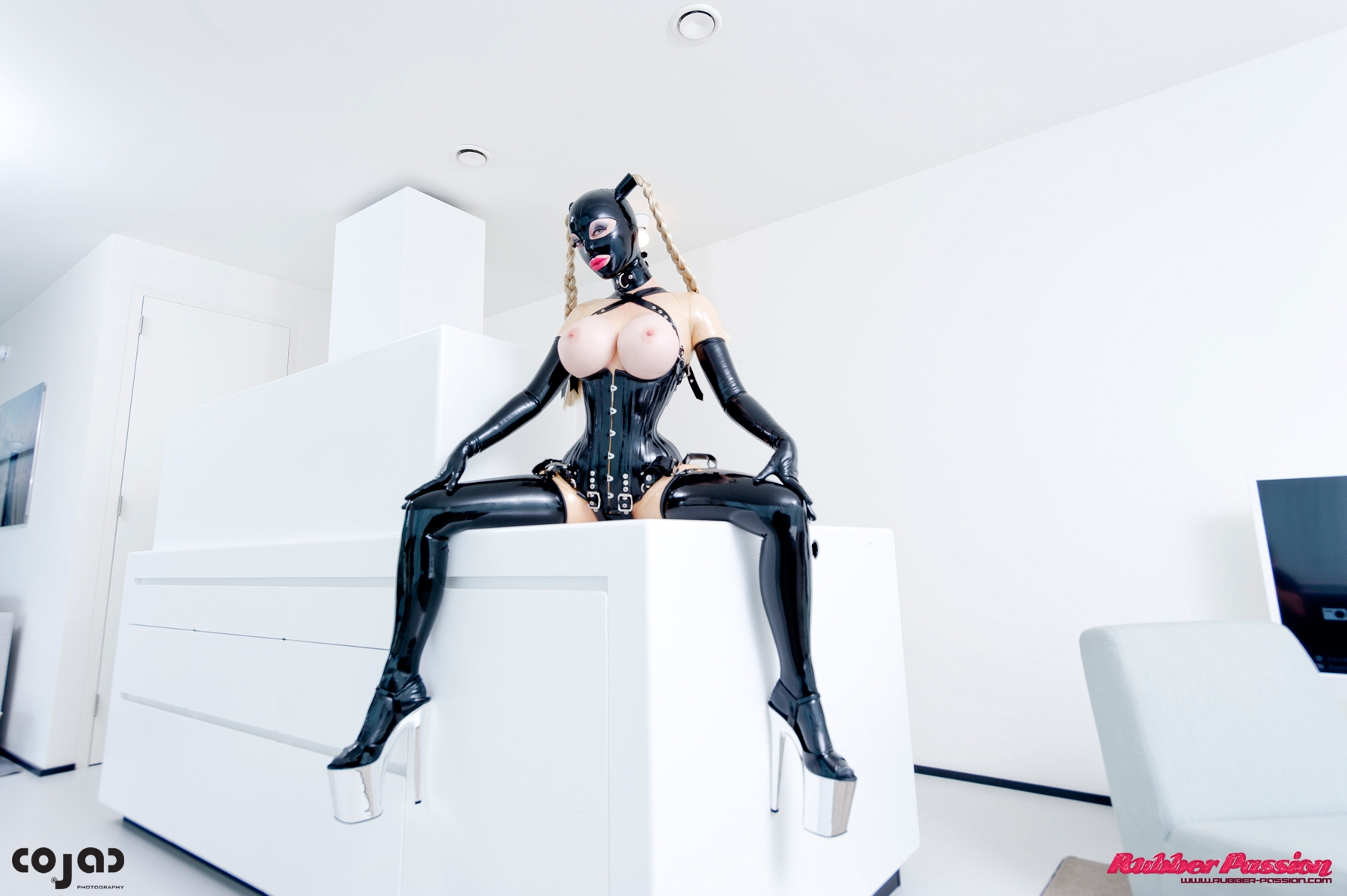 Lucy In Black Rubber