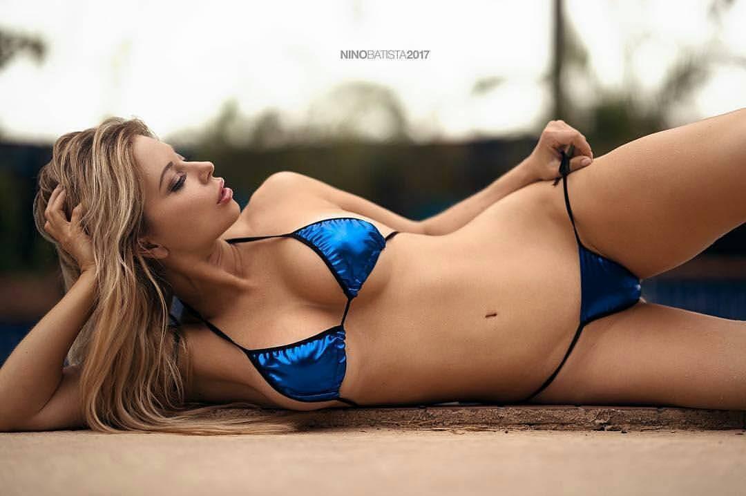 Shiny Blue Bikini